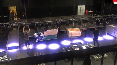 Stage crew working