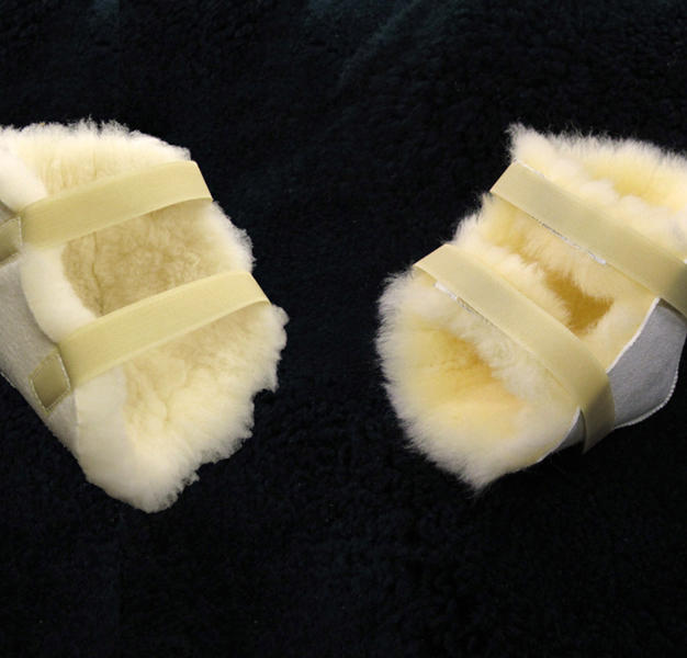 Heel Protectors #1276 - Wool Pile (Left) #1726 - Sheepskin (Right)