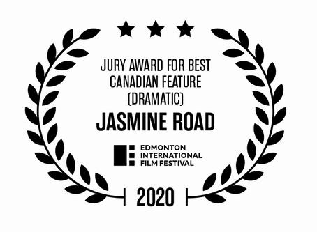 Jasmine Road wins Best Canadian Feature Film at 34th Edmonton International Film Festival.