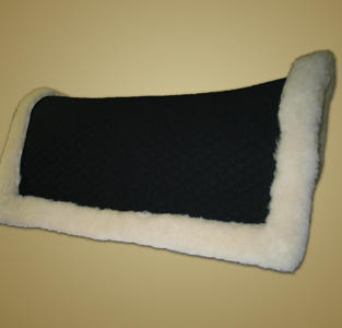 #1484 - Western Square Pad W/Wool, Rolled Edges