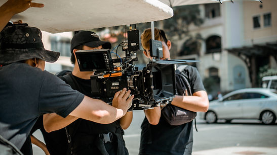 Crew operating a RED Camera