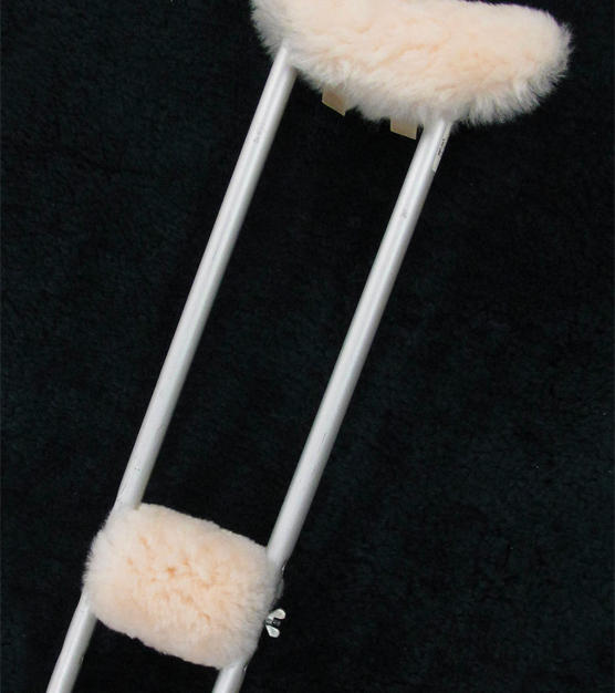 Sheepskin Crutch Pads #1716 - Lower (Sold as pair) #1717 - Set of 4 pcs (1716+1718) #1718 - Upper (Sold as pair)