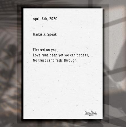 Haiku. 3. Speak.