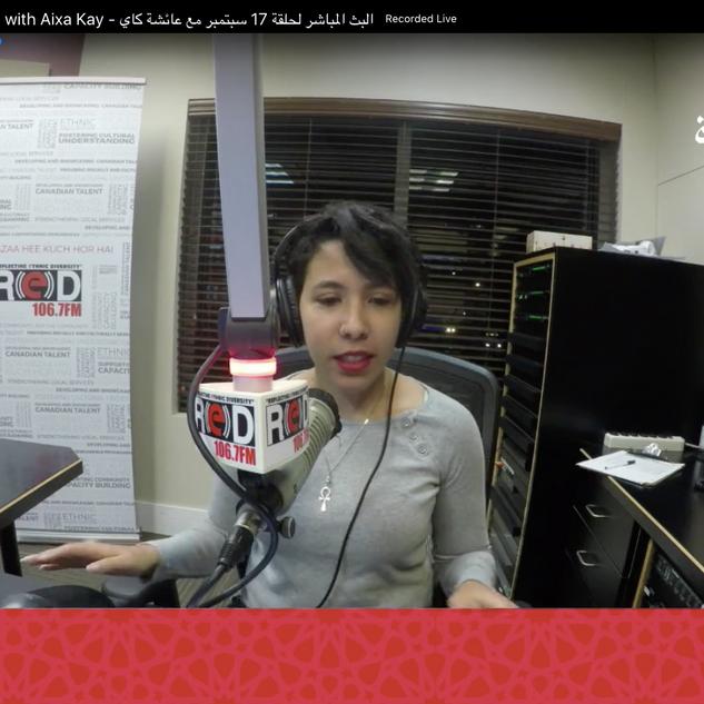 Aixa Kay RED FM Arabia Calgary with Noha