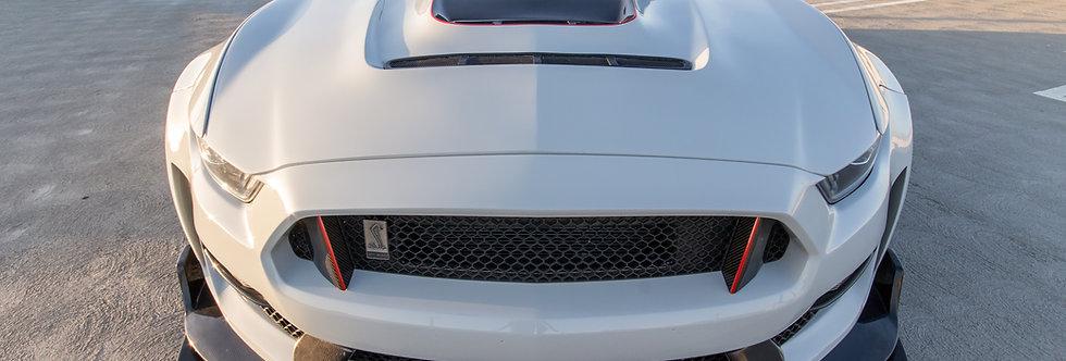 2015 - 2017 Mustang GT350RR Carbon Fiber Vented Hood