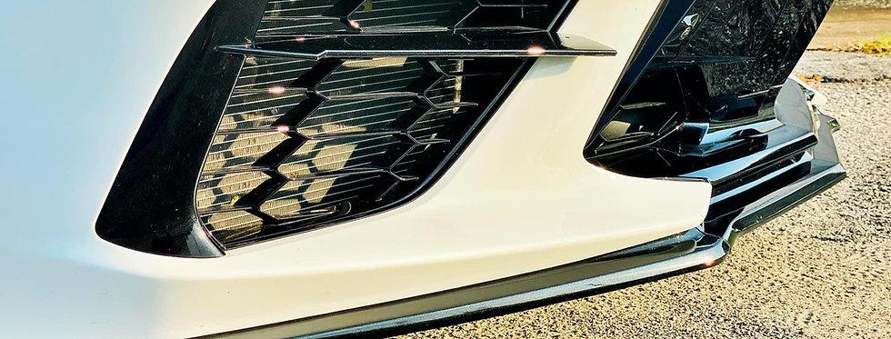2020+ Corvette C8 Z51 OEM Style Front Splitter PAINTED: Carbon Flash