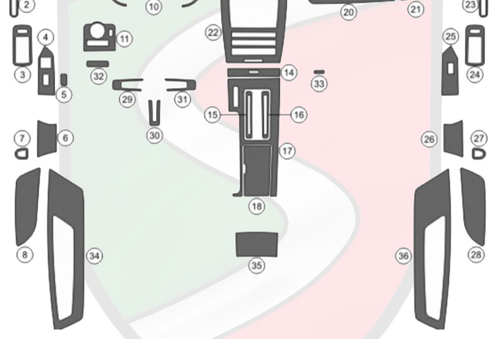 2010 - 2014 Mustang Real Carbon Fiber Dash Kit  35 pcs (Fits with Navigation)