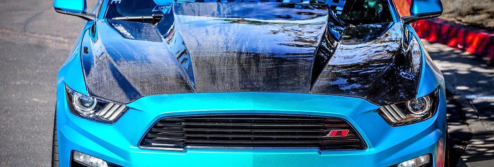 2015 - 2017 Mustang Carbon Fiber 4″ Cowl Hood