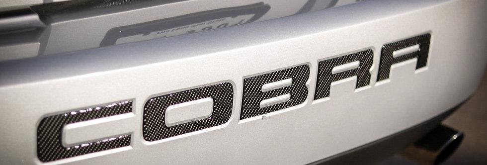 2003 - 2004 Mustang Carbon Fiber Cobra Rear Bumper Inserts