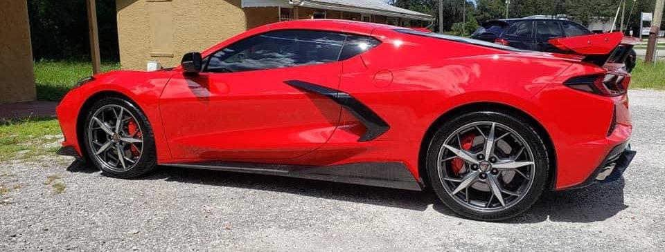 2020+ Corvette C8 Carbon Fiber 5VM OEM Style Side Skirts