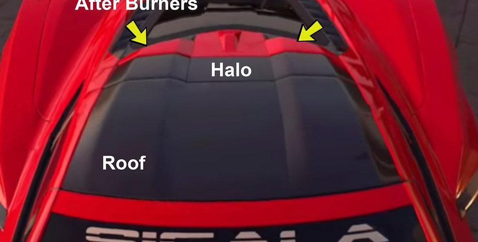 2020+ Corvette C8 Widebody RR Roof Set (4 pieces)