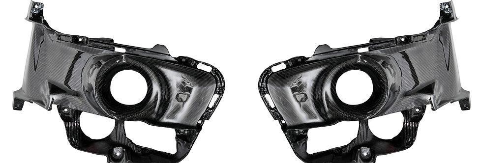 2015 - 2017 Mustang Carbon Fiber OEM Foglight Bezels