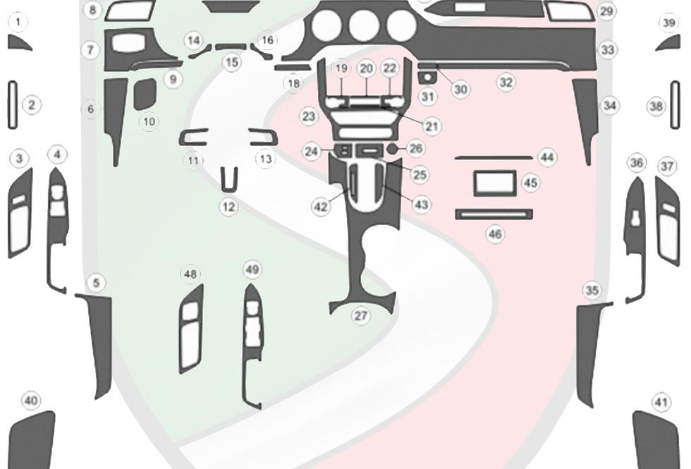 2015 - 2020 Mustang Carbon Fiber Overlay Dash Kit (NON-PERFORMANCE)