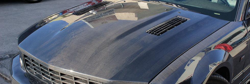 2005 - 2009 Mustang Saleen Style Carbon Fiber Hood