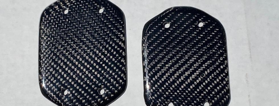 2020+ Corvette C8 Carbon Fiber Seatbelt Access Covers