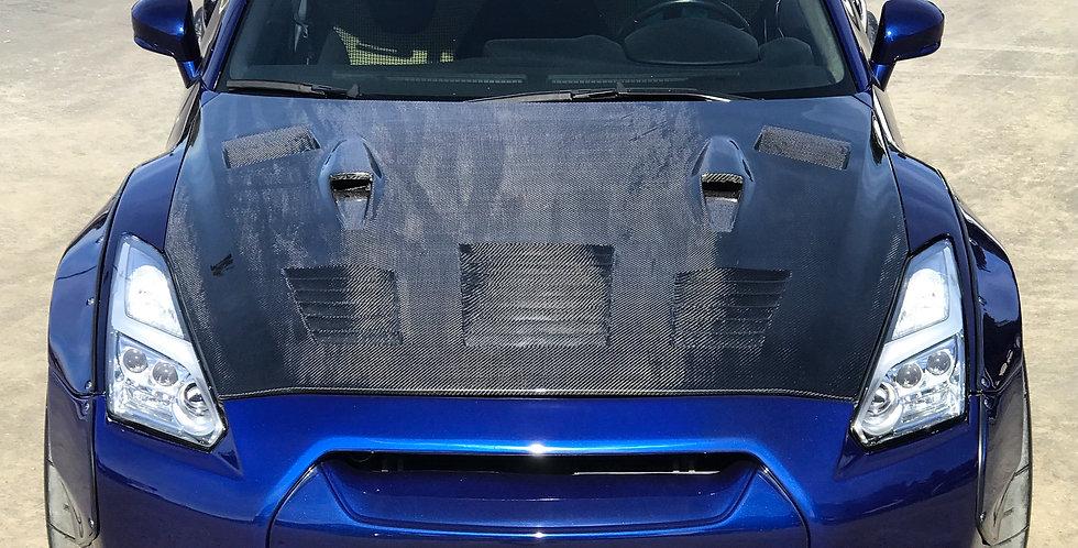 2007 - 2016 GTR P1 Carbon Fiber Vented Hood