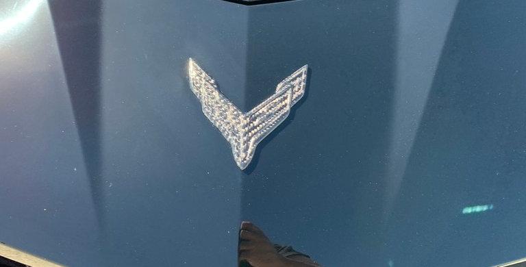 2020+ Corvette C8 Carbon Fiber Front Bumper Emblem