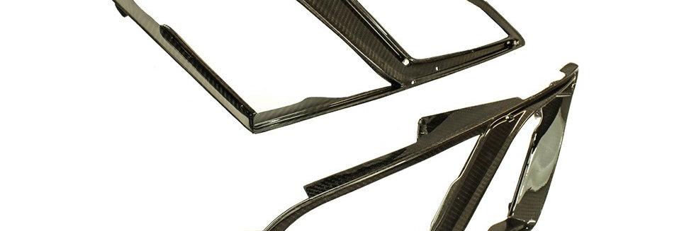 2007 - 2016 GTR Carbon Fiber Headlight Bezels
