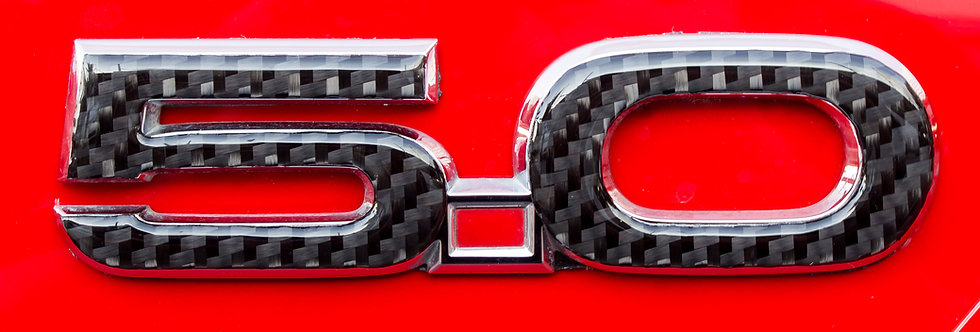 2015 - 2019 Mustang GT Real Carbon Fiber 5.0 Badge Overlays