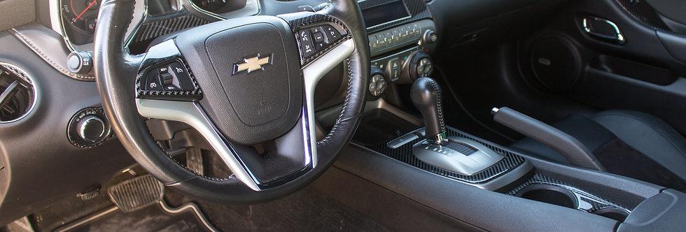 2010 - 2015 Camaro Carbon Fiber Overlay Dash Kit
