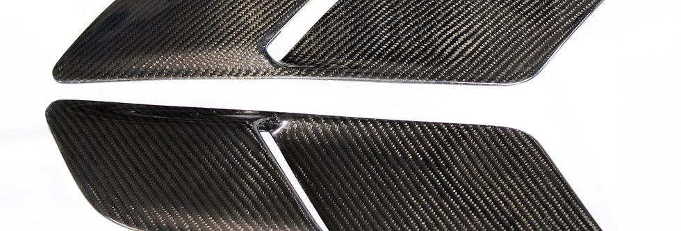 2015 - 2017 Mustang Carbon Fiber OEM Hood Vents