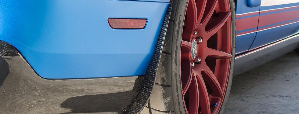 2010 - 2014 Mustang Carbon Fiber Rear Splash Guards