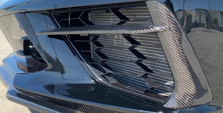 2020+ Corvette C8 Carbon Fiber Front Bumper Grille Bezels