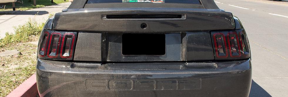 2003 - 2004 Mustang Carbon Fiber Cobra Style Rear Bumper