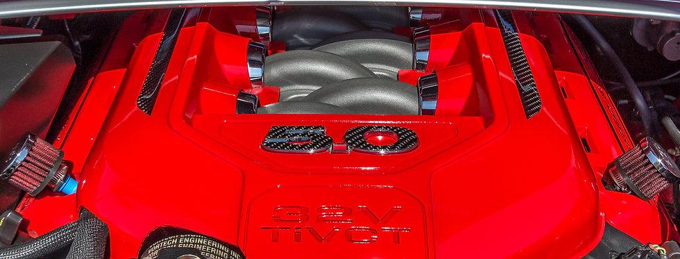 2011 - 2014 Mustang Carbon Fiber Engine Cover Overlay Bundle