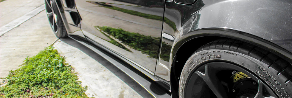 2005 - 2013 Corvette Z06 Style Fiberglass Side Skirt Extensions