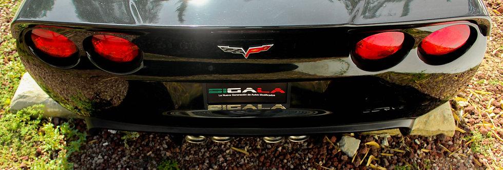 2005 - 2013 Corvette Fiberglass Rear Wing Wraparound