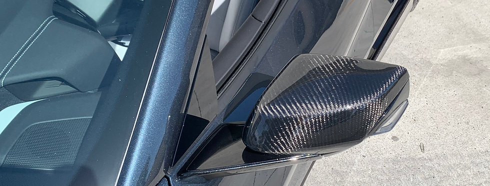2020+ Corvette C8 Carbon Fiber Mirror Kit (Mirror Caps)