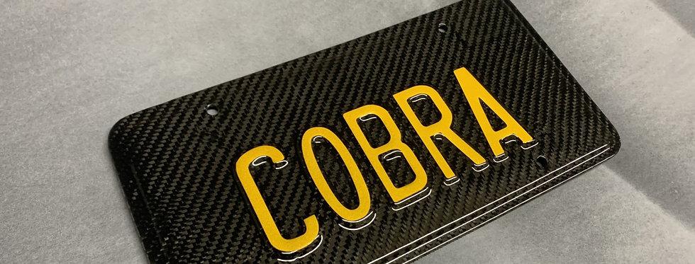 99-04 Mustang Carbon Fiber COBRA License Plate