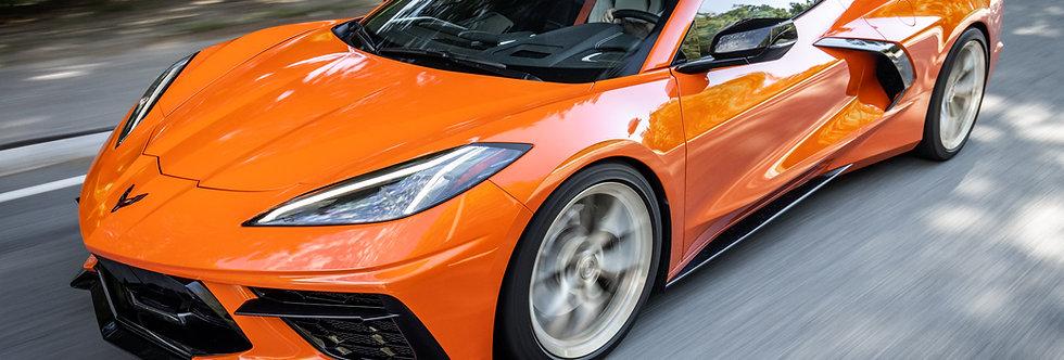 2020+ Corvette C8 Rocker Panel Extension Kit PAINTED: Carbon Flash