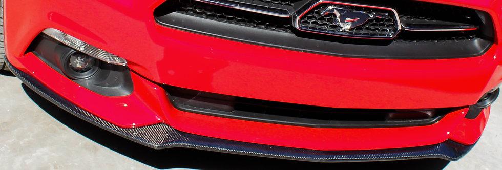 2015 - 2017 Mustang Carbon Fiber OEM Style V6 / Non PP Front Lip