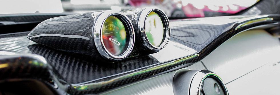 2005 - 2009 Mustang Saleen Carbon Fiber Dash Gauge Pod