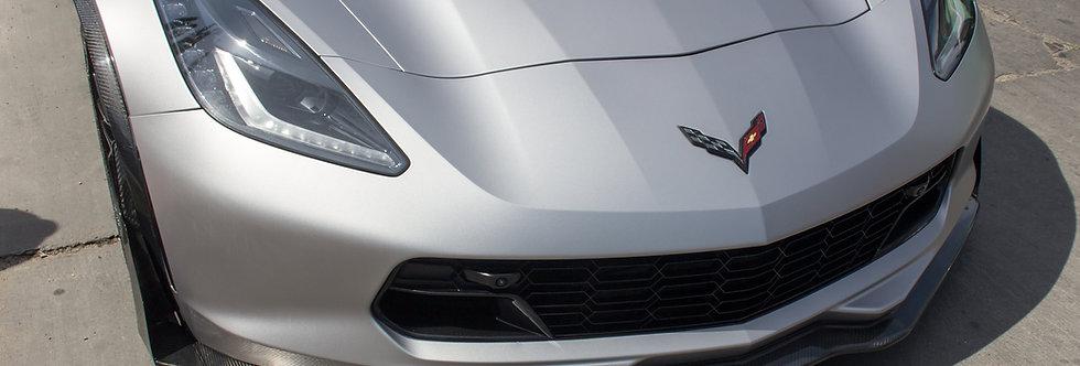 2014 + Corvette Carbon Fiber OEM Style Front Lip