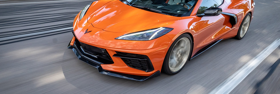 2020+ Corvette C8 FRP 5VM OEM Style Front Splitter PAINTED: Pick color
