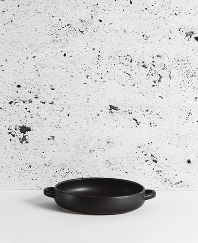 Black Stone Serving Plate with Handles