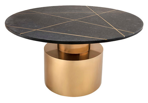 Black Marble and Gold Tier Coffee Table