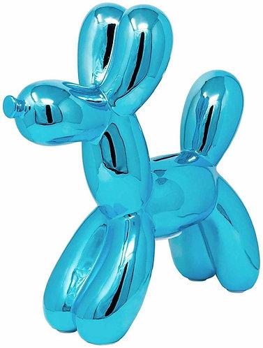 """Turquoise 12"""" Balloon Dog Bank"""