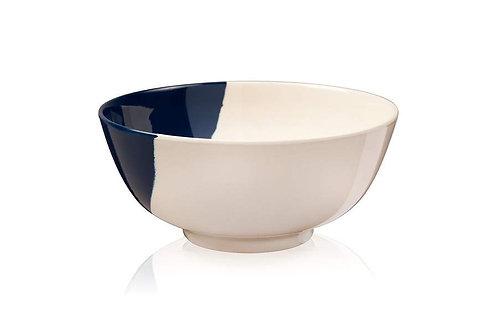 Blue & Cream Melamine Indoor & Outdoor Bowl