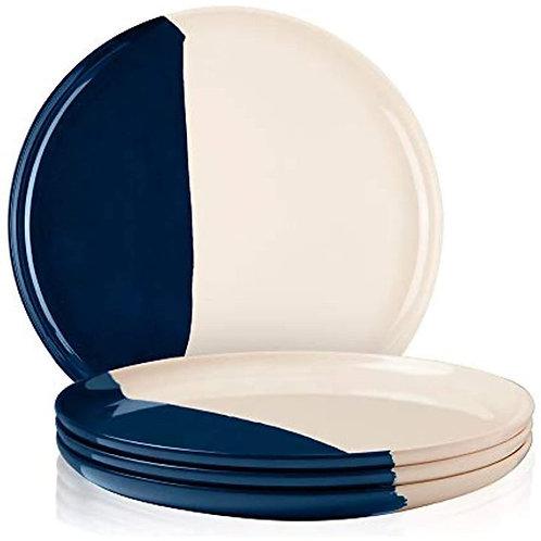 Blue & Cream Melamine Indoor & Outdoor Side Plates