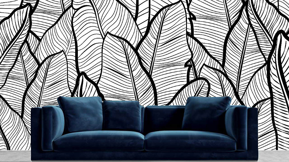 THE BLACK HOME X VERNA FOGG Peel & Stick Mural Wallpaper