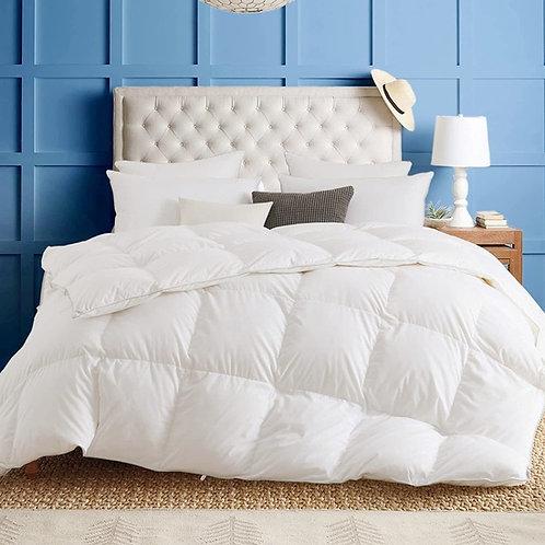 100% Cotton Goose Down Feather Queen Comforter