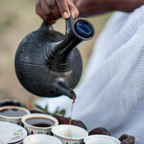 Traditional Ethiopian Coffee Ceremony