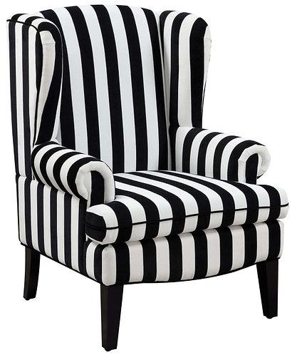 Velvet Striped Wingback Chair