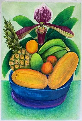 Orquidea y frutas - Ana Maria Velasco