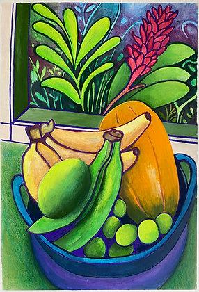 Frutas y ventana - Ana Maria Velasco