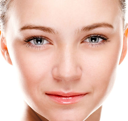 Female after facial fillers